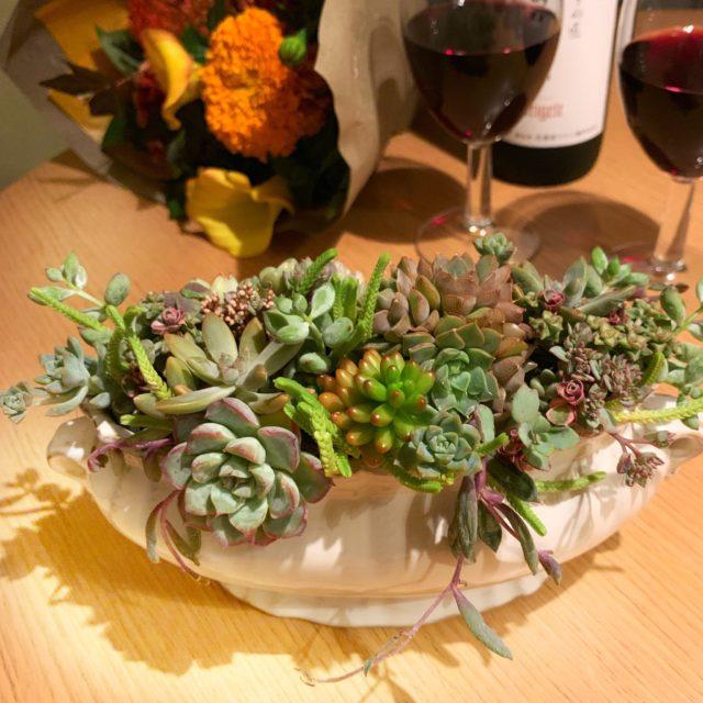 多肉植物寄せ植え体験-フルーレfleur-